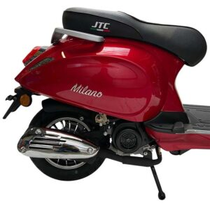 Milano 50cc rood achter detail