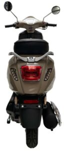 Milano 50cc taupe achter