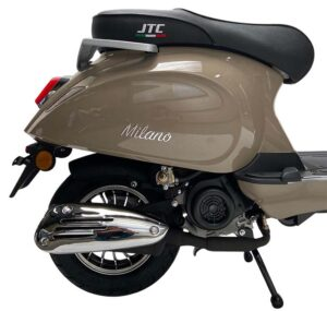 Milano 50cc taupe achter detail